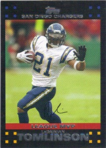 This 2007 Topps card celebrates LT winning the MVP in 2006.