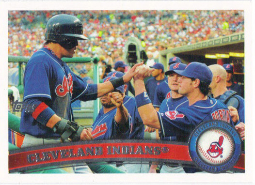 A 2011 Topps card of the Indians.