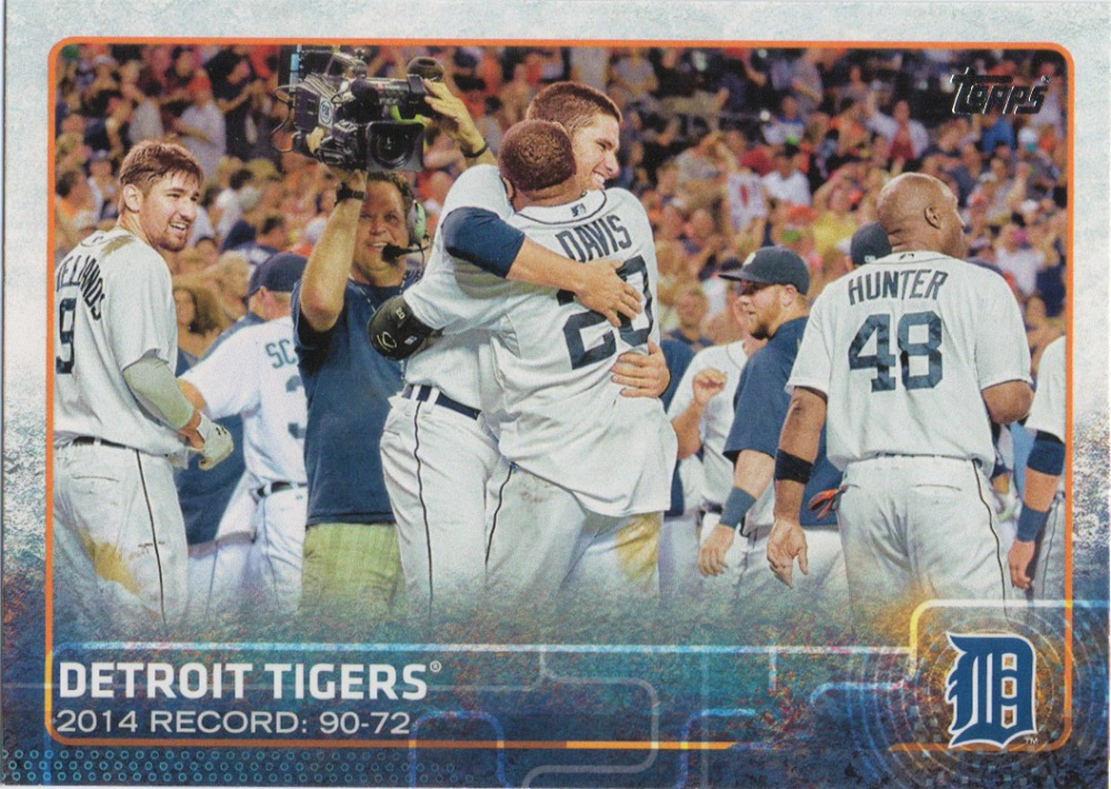 A 2015 Topps card of the Tigers.