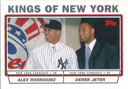 Topps put a few combo cards in its 2004 set.