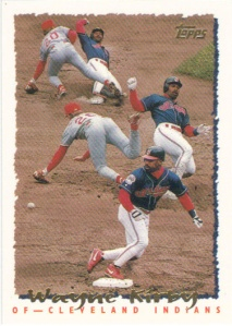 A 1995 Topps card of Wayne Kirby.