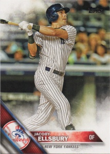 A 2016 Topps card of Jacoby Ellsbury.