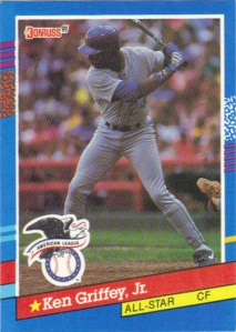A 1991 Donruss card of Ken Griffey Jr.