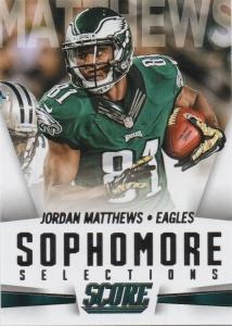 A 2015 Score card of Jordan Matthews.